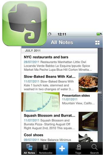 Fuente: Evernote; Apple Store
